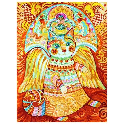 Белоснежка Картина по номерам Солнечный кот 30х40 см (297-AS) рыжий кот картина по номерам маленький ангелочек 30х40 см x 6161