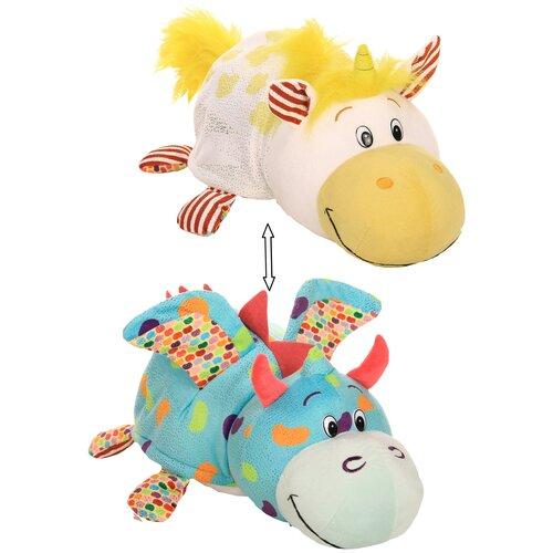 Мягкая игрушка 1 TOY Вывернушка Ням-Ням Единорог-Дракон с ароматом 35 см