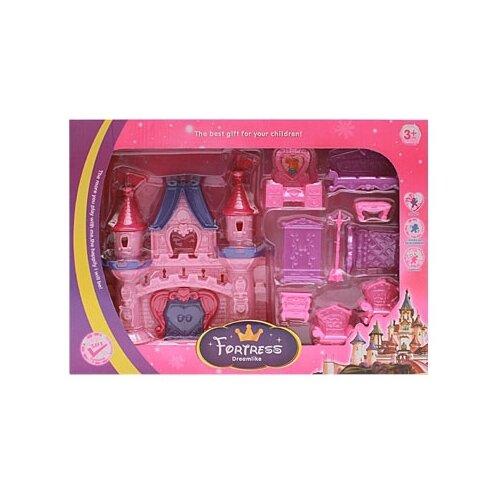 Shantou Gepai Замок принцессы-1 B1410003, розовый/фиолетовый набор посуды shantou gepai play house b1750458 розовый фиолетовый голубой