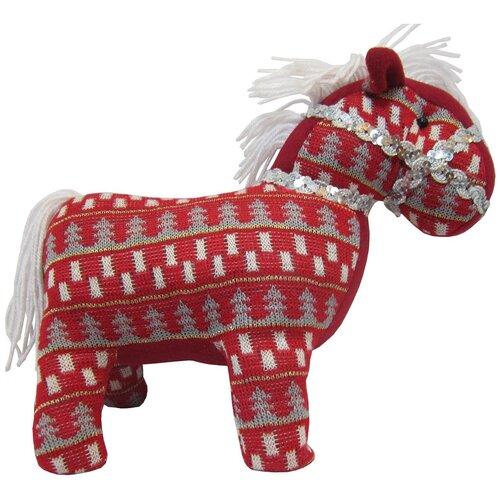 Мягкая игрушка Snowmen Лошадь красная 18 см