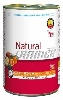 Корм для собак TRAINER Natural Adult Medium Chicken, Rice and Aloe Vera canned (0.4 кг) 1 шт.
