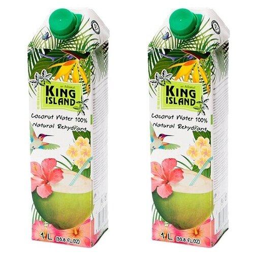 Фото - Вода кокосовая King Island 100%, с крышкой, без сахара, 1 л, 2 шт. нектар juicer облепиха без сахара 0 25 л 10 шт