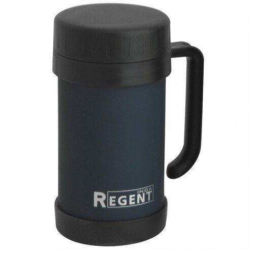 Термокружка REGENT inox Gotto 93-TE-GO-2-500, 0.5 л черный/синий