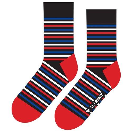 Фото - Носки St. Friday Friday Stripes, размер 34-37, разноцветный носки st friday цой жив гуф умер размер 34 37 черный