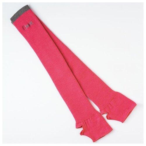 Гетры гимнастические с полоской - 043 (розовый) - размер универсальный/One size