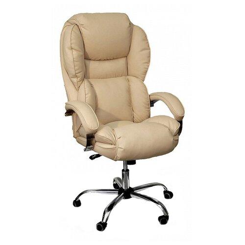 цена на Компьютерное кресло Креслов Барон КВ-12-131112 для руководителя, обивка: искусственная кожа, цвет: кофейный