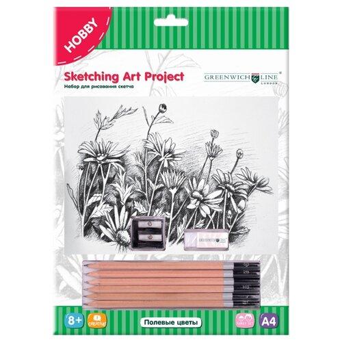Купить Greenwich Line Набор для рисования скетча Полевые цветы (SK_14638), Наборы для рисования