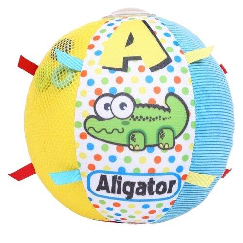 Купить Развивающая игрушка Biba Toys шар Аллигатор BS184 голубой/желтый, Развивающие игрушки