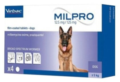 Virbac Мильпро дог для крупных собак