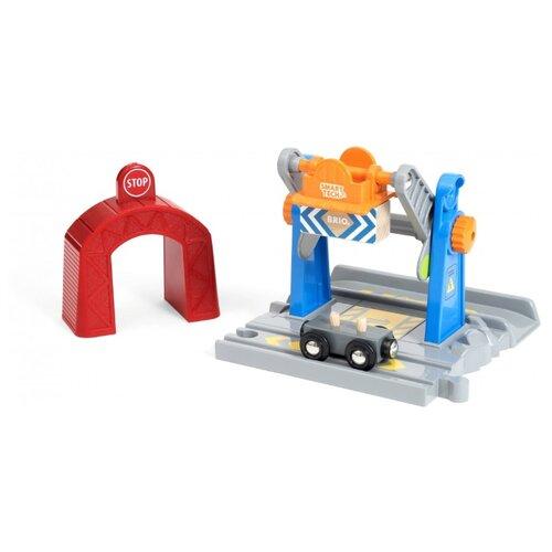 Купить Brio Вагон с тоннелем Smart Tech и подъемным краном, 33827, Наборы, локомотивы, вагоны