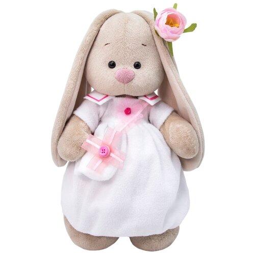 Мягкая игрушка Зайка Ми в платье с сумочкой 25 см мягкая игрушка зайка ми в платье в стиле кантри 25 см