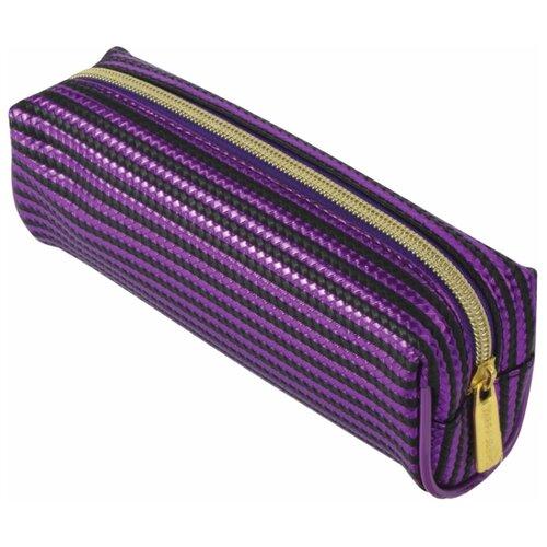 Купить BRAUBERG Пенал-косметичка Royal фиолетовый, Пеналы