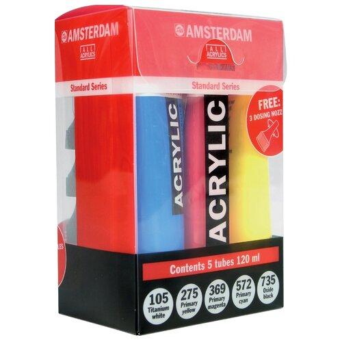 Купить Royal Talens Набор акриловых красок Amsterdam Стандарт 5цв*120мл, Наборы для рисования