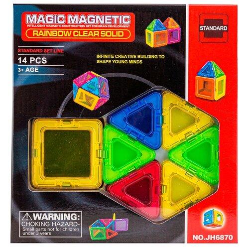 Магнитный конструктор Наша игрушка Magic Magnetic Standard JH6870 Rainbow Clear Solid, Конструкторы  - купить со скидкой