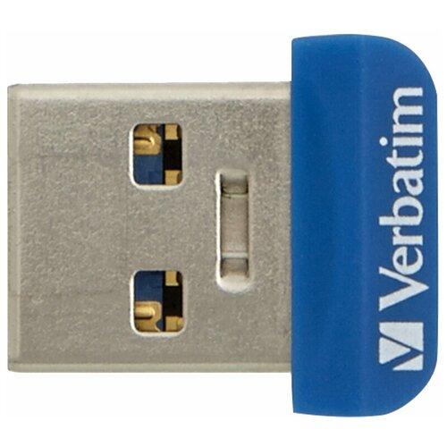 Фото - Флешка Verbatim Store 'n' Stay NANO USB 3.0 32 GB, синий флешка verbatim store n go v3 16 gb черный