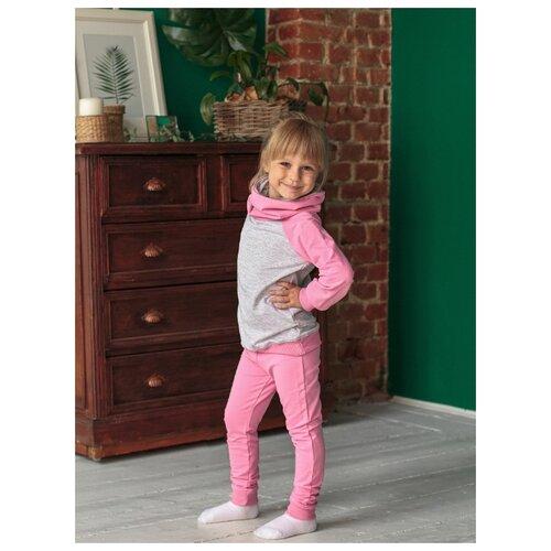 Комплект одежды LeyLo размер 98, розовый/серый меланж