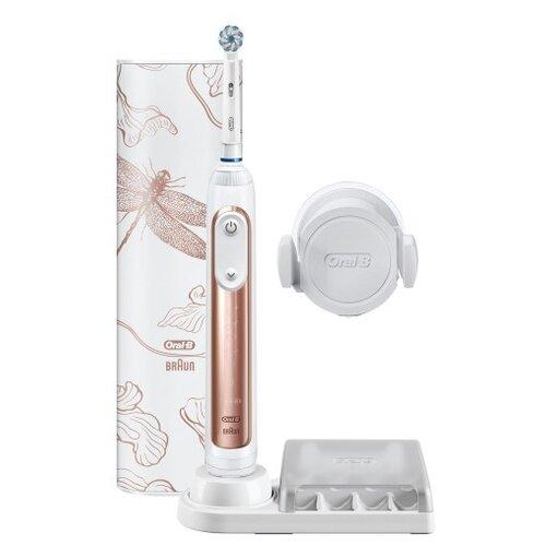 Электрическая зубная щетка Oral-B Genius 10000N Sensi Rose Gold, розовое золото