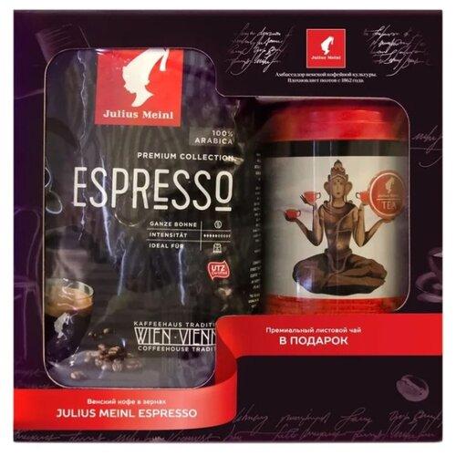 Кофе в зернах Julius Meinl Espresso Premium Collection с листовым чаем в наборе, арабика, 1.445 кг meinl nino7