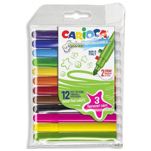 Купить Carioca Набор фломастеров Mini (42605), 12 шт., Фломастеры