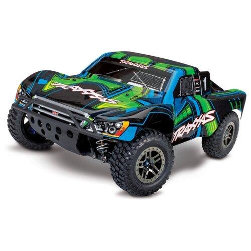 Купить Внедорожник Traxxas Slash Ultimate VXL (68077-4) 1:10 56.8 см черный/зеленый/голубой, Радиоуправляемые игрушки