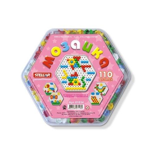 Купить Мозаика (диаметр 13мм/110 деталей), шестигранная коробка, Stellar