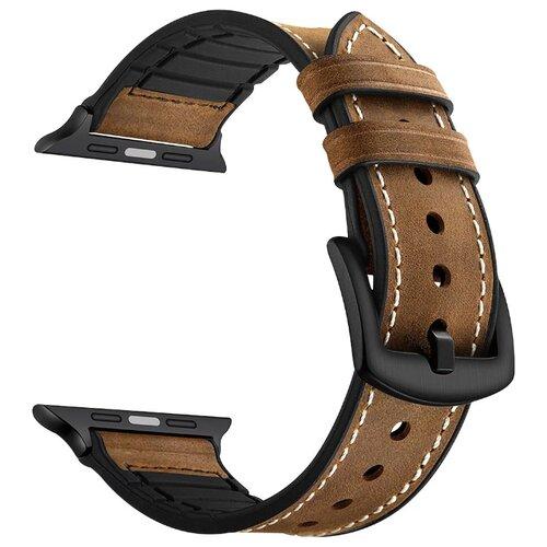 Купить Lyambda Комбинированный ремешок Antares для Apple Watch 38/40 mm deep brown