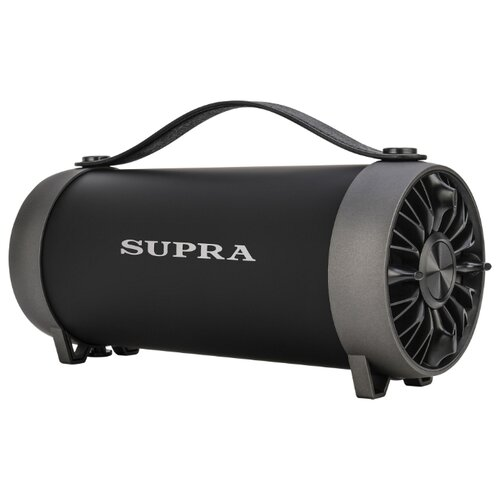 Портативная акустика SUPRA BTS-490 черный аудиомагнитола supra bts 580 черный