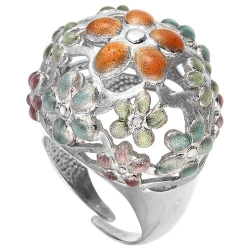 JV Кольцо Цветы из серебра ZAN194-YB-WG, размер 17.5 yb
