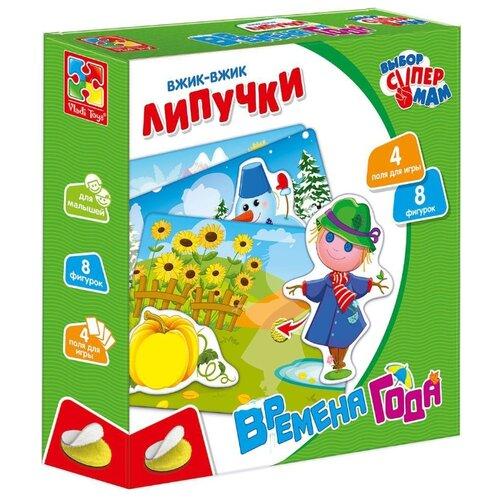 Купить Настольная игра Vladi Toys Вжик-вжик Липучки Времена года VT1302-19, Настольные игры