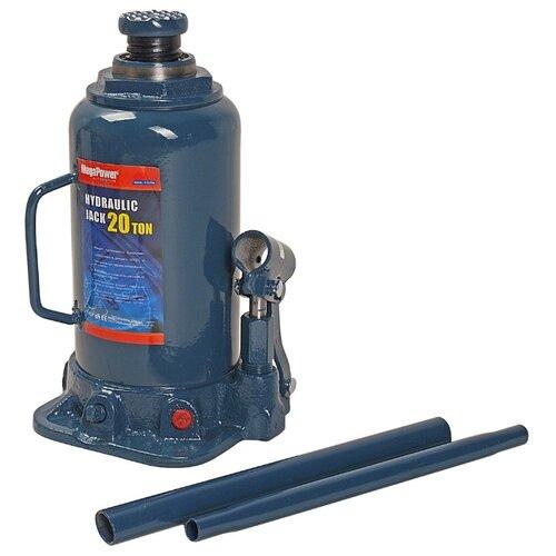 Домкрат бутылочный гидравлический MegaPower M-92004 (20 т) синий домкрат бутылочный гидравлический megapower m 90504s 5 т синий