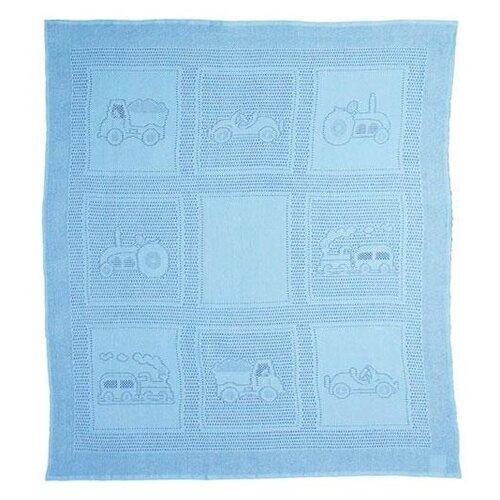 Купить Плед MYB Car Squares 97х107 см в подарочной упаковке голубой, Покрывала, подушки, одеяла
