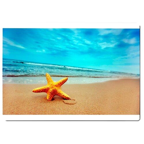 Коврик для мыши Морская звезда на берегу моря