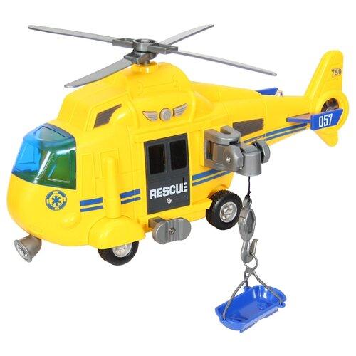 Купить Вертолет WenYi Спасательный (WY750A) 1:16 27 см желтый, Машинки и техника