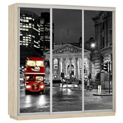 Шкаф-купе для спальни Е1 Экспресс Фото Трио Ночной Лондон, (ШхГхВ): 180х60х240 см, дуб сонома недорого