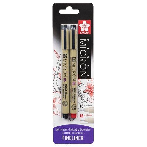 Купить SAKURA Набор капиллярных ручек Pigma Micron 0.45 мм 2шт, Ручки