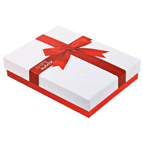 Коробка подарочная Дарите счастье Для тебя 14 х 3.5 х 10.5 см белый коробка подарочная дарите счастье с любовью для тебя 23 х 7 5 х 16 см красный белый