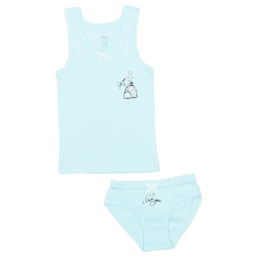 Купить Комплект нижнего белья RuZ Kids размер 116-122, арктический голубой, Белье и купальники