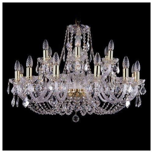Люстра Bohemia Ivele Crystal 1406 1406/12+6/300/G/Leafs, E14, 720 Вт