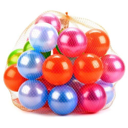 Шарики для сухих бассейнов Нордпласт 30 шт. 8 см (415) красный/фиолетовый/зеленый/синий
