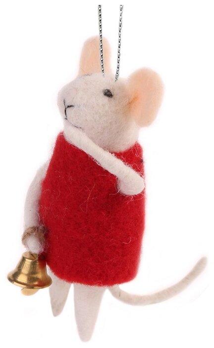 Елочная игрушка Magic Time Мышка с колокольчиком (80130)