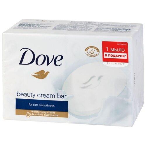 Крем-мыло кусковое Dove Красота и уход, 4 шт., 100 г мыло dove dove do032lwzkf76