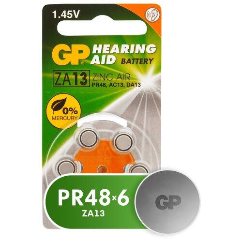 Фото - Батарейка GP Hearing Aid ZA13, 6 шт. батарейка rayovac extra za312 6 шт