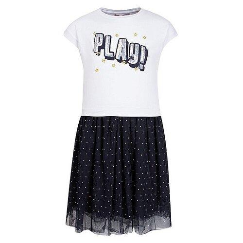 Платье Silvian Heach размер 92, белый/синий