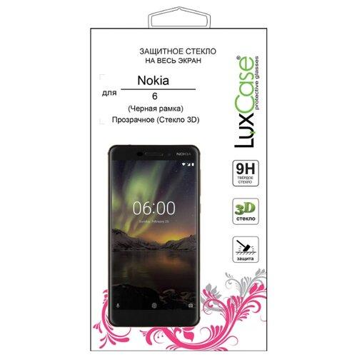 Защитное стекло LuxCase 3D для Nokia 6 черный