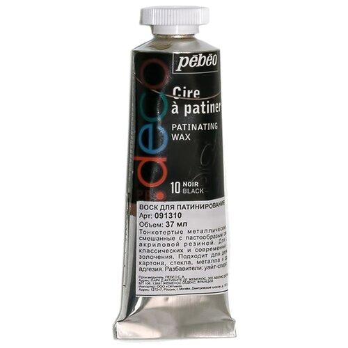 Воск Pebeo для патинирования 0913 37 мл черный pebeo краска масляная xl цвет кадмий лимонный 37 мл