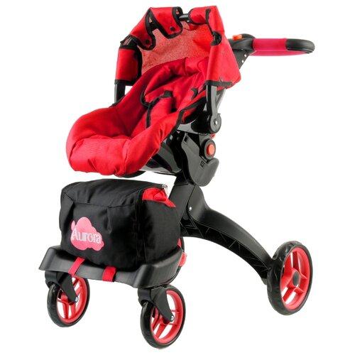 Купить Коляска-трансформер Buggy Boom Aurora (9005) красный, Коляски для кукол