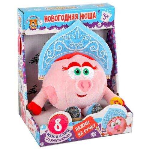 Купить Мягкая игрушка Мульти-Пульти Смешарики Нюша Новогодняя 10 см, муз. чип, в коробке, Мягкие игрушки