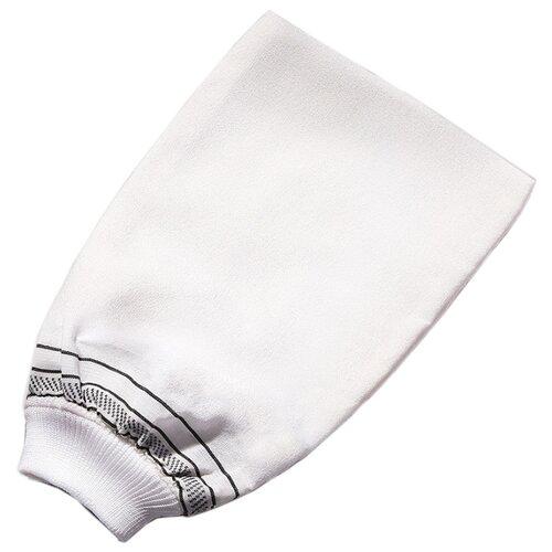 Мочалка Zeitun кесе средней жесткости белый