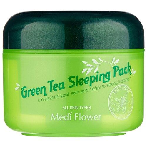 Medi Flower Смягчающая ночная маска-пуддинг с зеленым чаем, 100 мл