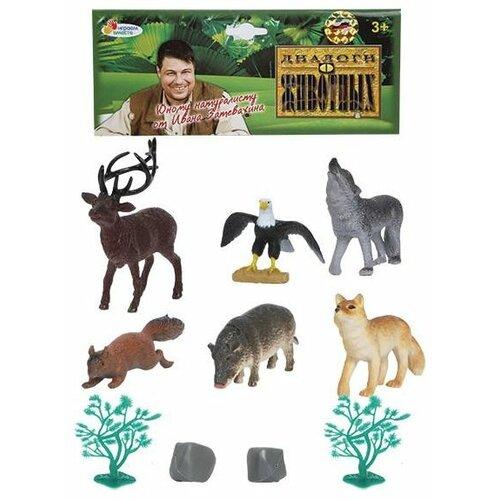 Купить Фигурки Играем вместе Диалоги о животных Лесные животные P0404/10A, Игровые наборы и фигурки